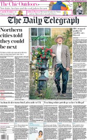 The Daily Telegraph front page for 21 October 2020