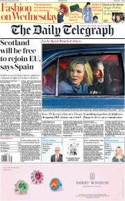 The Daily Telegraph (UK) Newspaper Front Page for 21 November 2018
