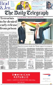 The Daily Telegraph (UK) Newspaper Front Page for 21 January 2020