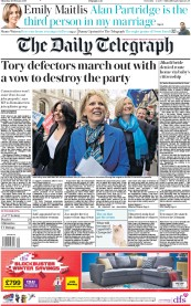The Daily Telegraph () Newspaper Front Page for 21 February 2019