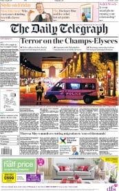 The Daily Telegraph (UK) Newspaper Front Page for 21 April 2017
