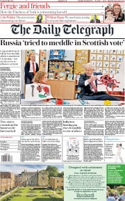 The Daily Telegraph (UK) Newspaper Front Page for 21 July 2020