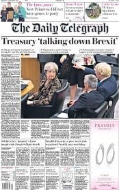 The Daily Telegraph (UK) Newspaper Front Page for 21 September 2017