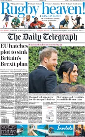The Daily Telegraph (UK) Newspaper Front Page for 21 September 2019
