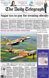 The Daily Telegraph (UK) Newspaper Front Page for 22 May 2015