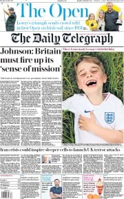 The Daily Telegraph (UK) Newspaper Front Page for 22 July 2019