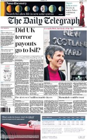 The Daily Telegraph (UK) Newspaper Front Page for 23 February 2017