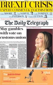 The Daily Telegraph (UK) Newspaper Front Page for 23 March 2019