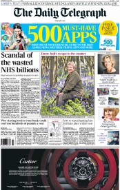 The Daily Telegraph (UK) Newspaper Front Page for 23 May 2015