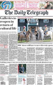 The Daily Telegraph front page for 23 June 2020