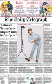 The Daily Telegraph front page for 24 October 2020