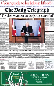 The Daily Telegraph front page for 24 November 2020