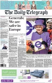 The Daily Telegraph (UK) Newspaper Front Page for 24 February 2016
