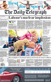 The Daily Telegraph (UK) Newspaper Front Page for 24 April 2017