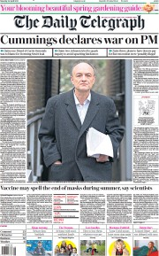 The Daily Telegraph front page for 24 April 2021