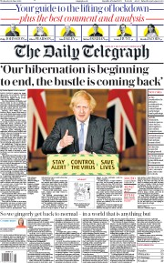The Daily Telegraph front page for 24 June 2020