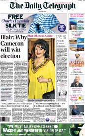 The Daily Telegraph (UK) Newspaper Front Page for 25 October 2014