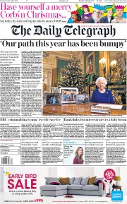 The Daily Telegraph () Newspaper Front Page for 25 December 2019
