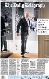 The Daily Telegraph (UK) Newspaper Front Page for 25 July 2019