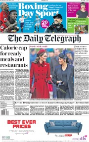 The Daily Telegraph (UK) Newspaper Front Page for 26 December 2018