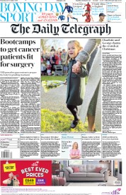 The Daily Telegraph () Newspaper Front Page for 26 December 2019