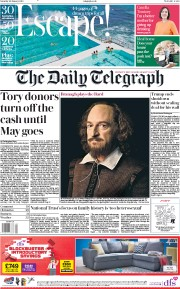 The Daily Telegraph () Newspaper Front Page for 26 January 2019