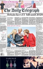 The Daily Telegraph (UK) Newspaper Front Page for 26 April 2017