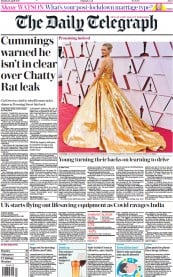 The Daily Telegraph () Newspaper Front Page for 26 April 2021