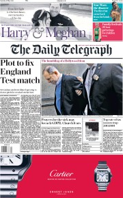 The Daily Telegraph (UK) Newspaper Front Page for 26 May 2018