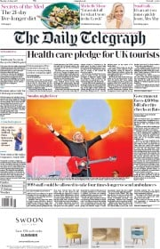 The Daily Telegraph (UK) Newspaper Front Page for 26 June 2017