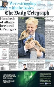 The Daily Telegraph (UK) Newspaper Front Page for 26 June 2019