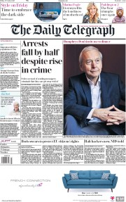 The Daily Telegraph () Newspaper Front Page for 27 October 2017