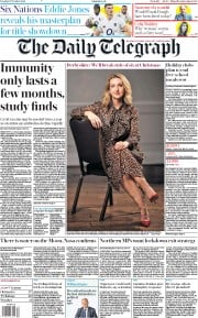 The Daily Telegraph front page for 27 October 2020
