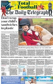 The Daily Telegraph (UK) Newspaper Front Page for 27 December 2018