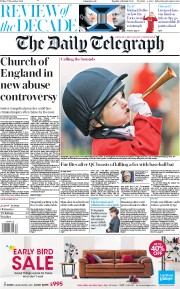 The Daily Telegraph () Newspaper Front Page for 27 December 2019