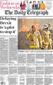 The Daily Telegraph () Newspaper Front Page for 27 February 2019