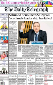 The Daily Telegraph front page for 27 February 2021