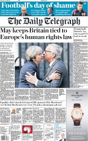 The Daily Telegraph (UK) Newspaper Front Page for 27 April 2017