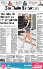 The Daily Telegraph (UK) Newspaper Front Page for 27 May 2015