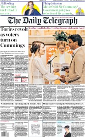 The Daily Telegraph front page for 27 May 2020