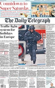The Daily Telegraph front page for 27 June 2020