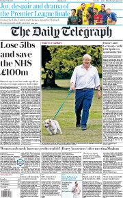 The Daily Telegraph front page for 27 July 2020