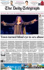 The Daily Telegraph (UK) Newspaper Front Page for 27 August 2014