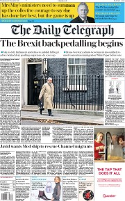 The Daily Telegraph (UK) Newspaper Front Page for 28 November 2018