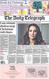 The Daily Telegraph front page for 28 November 2020