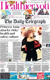 The Daily Telegraph () Newspaper Front Page for 28 December 2019