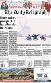 The Daily Telegraph (UK) Newspaper Front Page for 28 February 2018