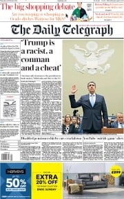 The Daily Telegraph (UK) Newspaper Front Page for 28 February 2019
