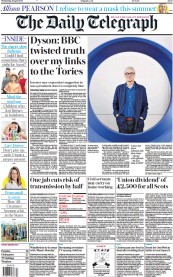 The Daily Telegraph front page for 28 April 2021