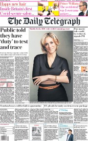 The Daily Telegraph front page for 28 May 2020